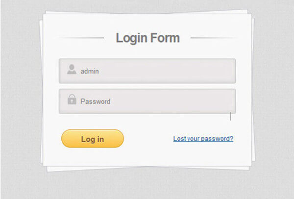 front-end-login-form