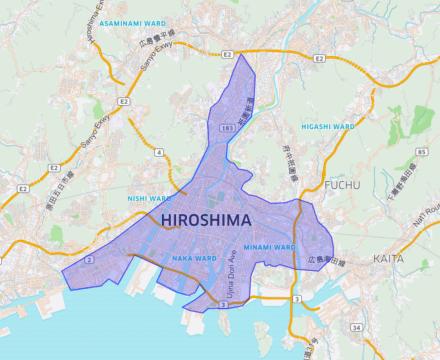 Uber Eats(ウーバーイーツ)の広島県対応エリアと注文時間