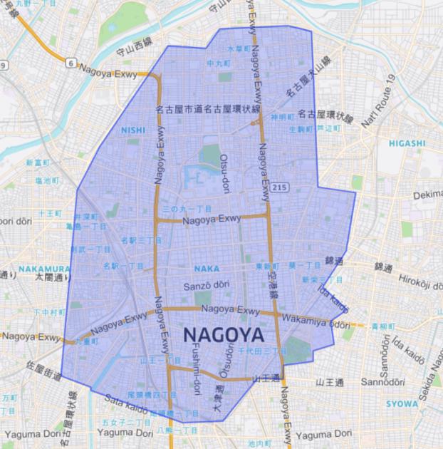 ウーバーイーツ愛知・名古屋の対応エリア詳細・配達可能範囲